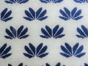 Jaquard-Jersey weiß dunkelblau
