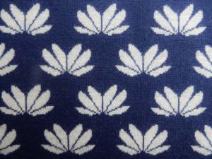 Jaquard-Jersey blau weiß