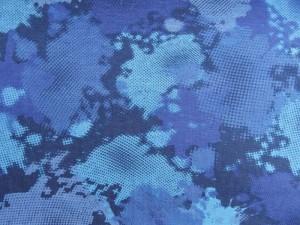 Baumwoll-Jersey Camouflage blau
