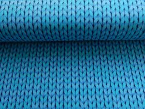 Baumwoll-Jersey Strickoptik