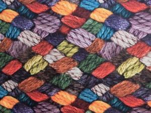 Dekorleinen Wolle bunt