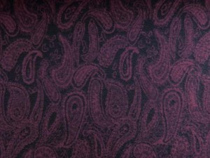 Flanell-Jersey Paisley weinrot