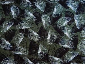 Viscose-Jersey Pusteblumen grün