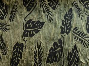 Double-Jersey Blätter grün