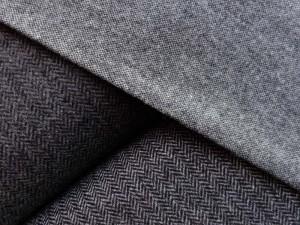Schurwoll-Tweed und Fischgrät