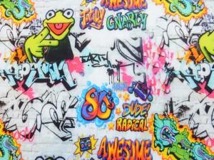 Baumwoll-Jersey Graffity