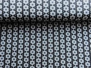 Baumwoll-Jersey Retro schwarz weiß