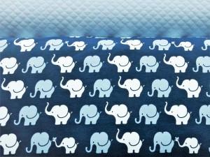 Baumwoll-Sweat Elefanten dunkelblau