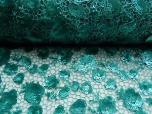 Pailettenspitze smaragdgrün