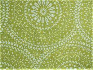 Dekorleinen Mandala grün