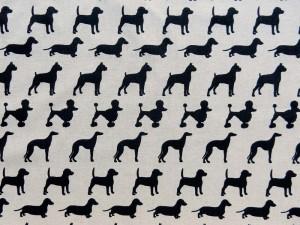 Dekorleinen Hunderassen schwarz