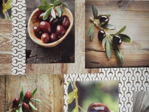 Dekorleinen Oliven