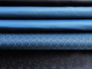 Satinierte Baumwoll-Serie blau