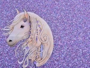 K1 Sommersweat Panel Pferd lila