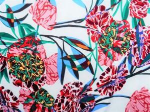Viscose-Jersey Floral weiß