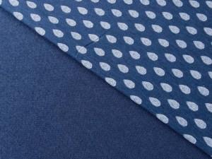 Viscose-Jersey Retro blau