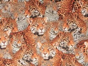 Baumwoll-Jersey Leopard