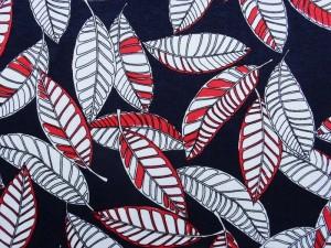 Viscose-Jersey Blätter dunkelblau