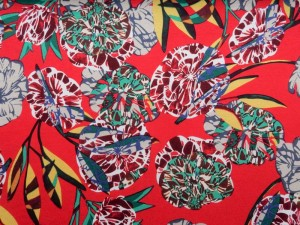 Viscose-Jersey floral rot