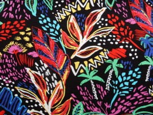 Viscose-Jersey Blume bunt