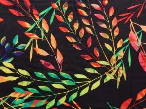 Viscose Blätter bunt