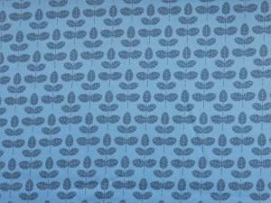 Baumwoll-Sweat Blätter blau