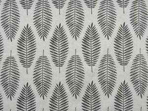 Glitzer-Dekorleinen Blätter schwarz