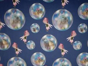 Baumwoll-Jersey kleine Elfe mit Seifenblasen