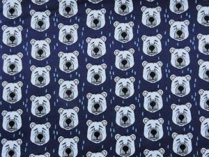 Baumwoll-Sweat Henning der Bär dunkelblau