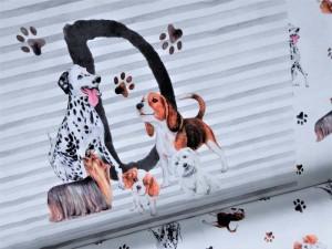 Baumwoll-Jersey Paneel Dogs