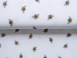 Baumwoll-Jersey Bienchen