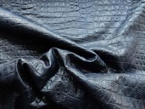 Schlangenleder-Imitat schwarz