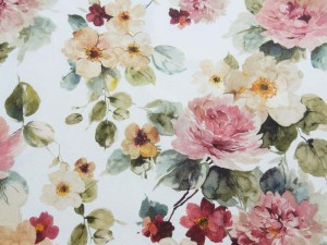 Dekorleinen Vintage-Rosen