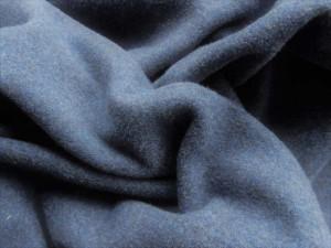 Jaquard-Sweat uni blau