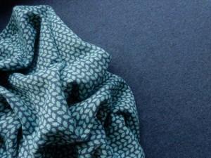 Jaquard-Sweat Serie jeansblau