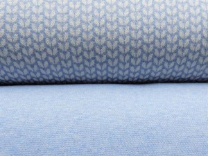 Jaquard-Sweat Serie hellblau