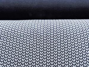 Jaquard-Sweat Serie dunkelblau
