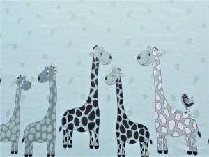 Bordüren-Jersey Giraffen mint