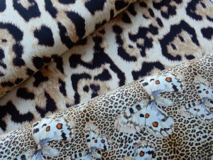 Baumwoll-Jersey Leoprints