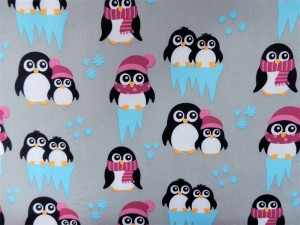 Softshell Pinguine grau