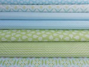 Baumwoll Serie hellblau und hellgrün