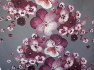 Dekorleinen Stiefmütterchen violett