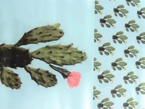 Baumwoll-Jersey Paneel Kaktus