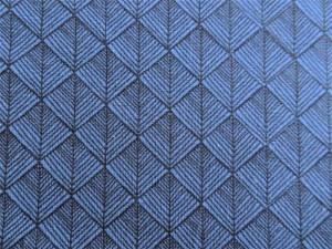 Modal-Jersey Geo blau