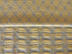 Jaquard-Jersey Serie gelb hellgrau