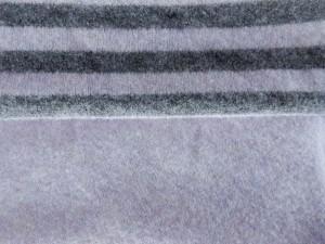 Schurwoll-Strickstoff gestreift und uni