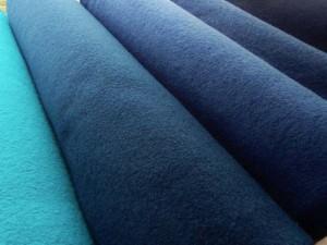 Schurwoll-Walkstoffe in vielen Farben