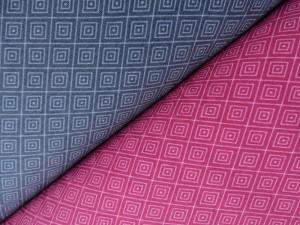 Baumwoll-Jerseys grau/pink