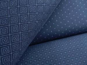 Baumwoll-Jersey Serie dunkelblau