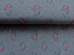 Baumwoll-Jersey Bär mit Halstuch